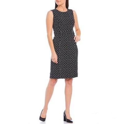 カスパール レディース ワンピース トップス Petite Size Printed Sleeveless Sheath Dress