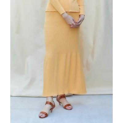 スカート Organic cotton ニットフレアスカート