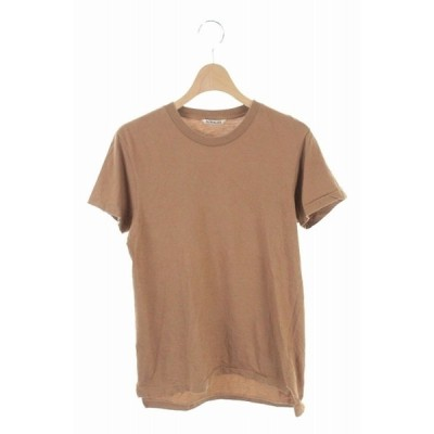 【中古】オーラリー AURALEE 19SS SEAMLESS CREW NECK TEE Tシャツ カットソー 半袖 1 茶 A00T04ST /AO ■OS レディース 【ベクトル 古着】