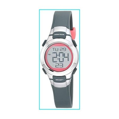Armitron Sport Women's Quartz Sport Watch with Resin Strap, Gray, 12 (Model: 45/7012PGY)【並行輸入品】