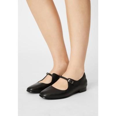 クラークス レディース 靴 シューズ PURE FLAT - Ankle strap ballet pumps - black