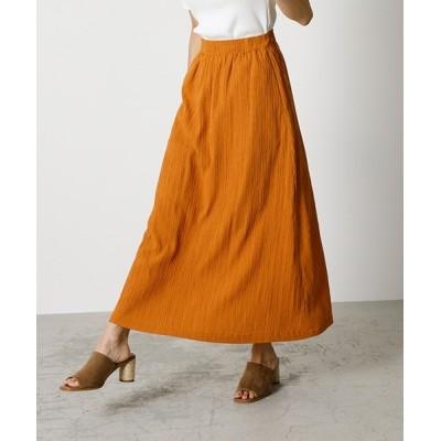 スカート CREPE SEMI FLARE SKIRT/クレープセミフレアスカート