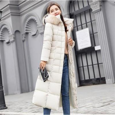 ジャケット レディース服 大人 冬服 コート 中綿コート ジャケット ロング丈 防寒 帽子付き ファッション お洒落 無地 カラバリ 大きいサイズ