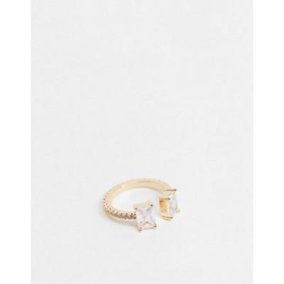 エイソス レディース 指輪 アクセサリー ASOS DESIGN ring with baguette cubic zirconia stones in gold tone