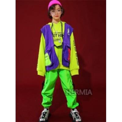 キッズダンス衣装 子供服 男の子 女の子 長袖トップス パンツ ロングパンツ 単品 セットアップ 子供衣装 子供ダンス
