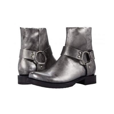 Frye フライ レディース 女性用 シューズ 靴 ブーツ アンクル ショートブーツ Veronica Harness Short - Silver Full Grain Metallic
