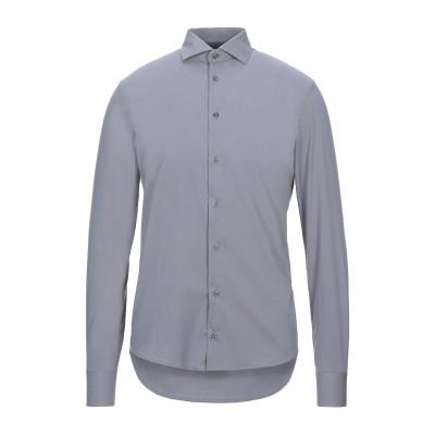 GIANFRANCO CENCI シャツ グレー L コットン 65% / ナイロン 32% / ポリウレタン 3% シャツ