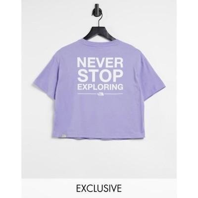 ザ ノースフェイス The North Face レディース ベアトップ・チューブトップ・クロップド Tシャツ トップス Nse Cropped T-Shirt In Purple ラベンダー