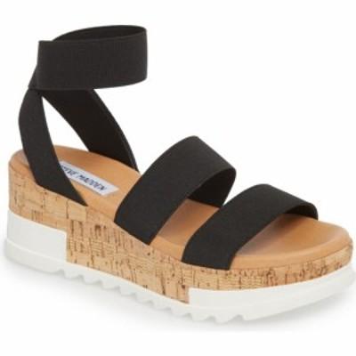 スティーブ マデン STEVE MADDEN レディース サンダル・ミュール ウェッジソール シューズ・靴 Bandi Platform Wedge Sandal Black