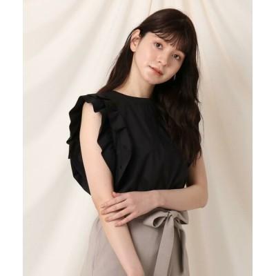 Couture Brooch/クチュールブローチ 【再入荷・新色追加】フリルスリーブブラウス ブラック(019) 38(M)