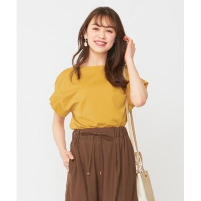 【エニィスィス】 Rich cottonスムース タックスリーブ Tシャツ レディース マスタード 2 any SiS