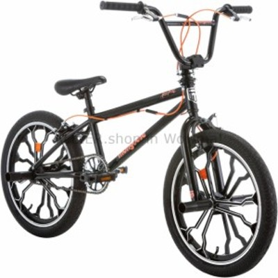 BMX 子供自転車20インチ。ブラック反乱軍フリースタイルボーイズBMX頑丈なスチールフレームマグホイール  Kids Bike