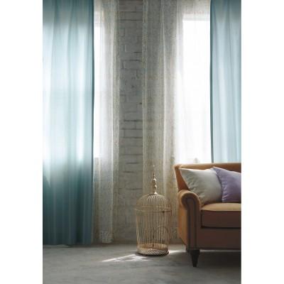 【オーダー】やわらかい光を通す刺しゅう風ラインモチーフオーダーカーテン
