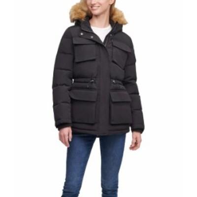 リーバイス レディース コート アウター Arctic Cloth Four-Pocket Storm Coat Black