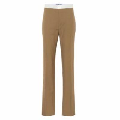 ロエベ Loewe レディース ボトムス・パンツ Wool high-rise pants Beige