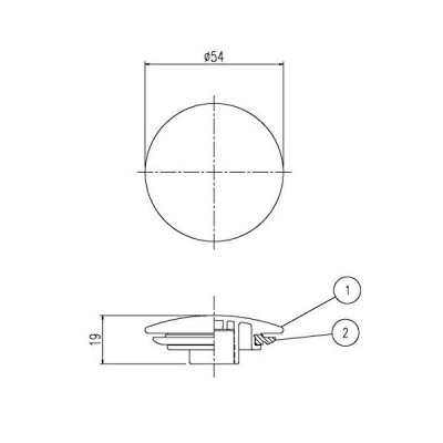 LIXIL(INAX)プッシュワンウェイ式排水金具部材 密閉フタ B21-SVLAR2(W) 白色