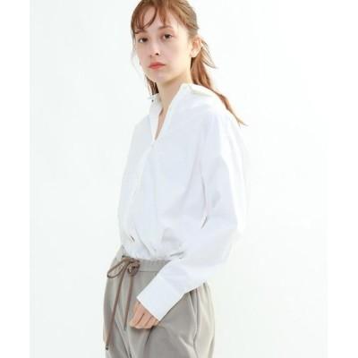 INDIVI/インディヴィ 【ハンドウォッシュ】ボディシェルブロードシャツ ホワイト(001) 38(M)