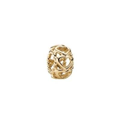 チャーム チャームブレスレット パンドラ Pandora Charm Lucky in Love Yellow Gold 14K with Gift Box Authentic 750813