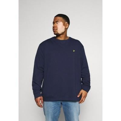 ライルアンドスコット パーカー・スウェットシャツ メンズ アウター PLUS CREW NECK - Sweatshirt - navy