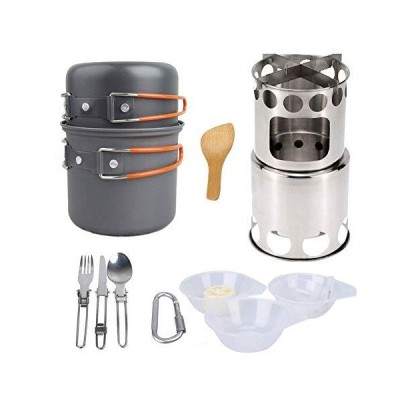全国送料無料!COSH Camping Cookware Hiking Stove Kit Picnic Cookware Set Outdoor Cooking Tools for Outdoor Backpacking