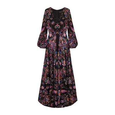 エトロ ETRO ロングワンピース&ドレス ブラック 38 シルク 100% ロングワンピース&ドレス