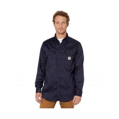 Carhartt カーハート メンズ 男性用 ファッション ボタンシャツ Flame-Resistant (FR) LW Twill Shirt - Dark Navy 2