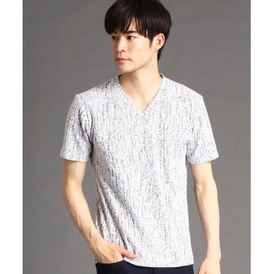 【ハイダウェイニコル】 ランダムジャカ-ドVネックTシャツ メンズ 91その他2 48(L) HIDEAWAYS NICOLE