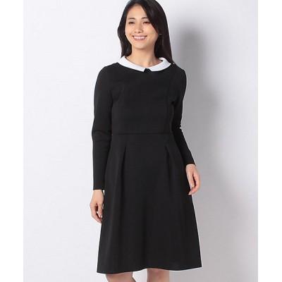 <MISS J(Women)/ミスジェイ>【アンサンブル対応】AMOSSA 襟付きニットドレス クロ68【三越伊勢丹/公式】