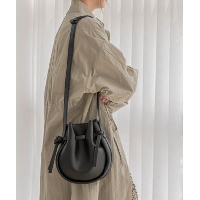 UNE MANSION / シャーリングプリーツレザーショルダーバッグ WOMEN バッグ > ショルダーバッグ
