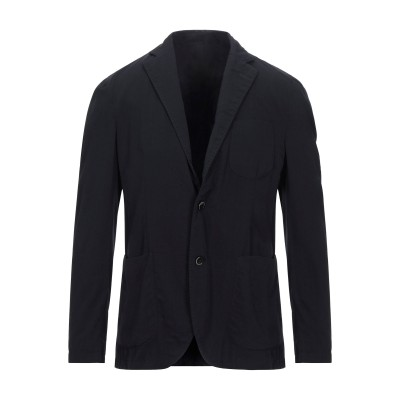LUBIAM テーラードジャケット ダークブルー 50 バージンウール 100% テーラードジャケット