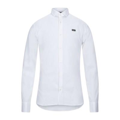 PHILIPP PLEIN シャツ ホワイト S コットン 96% / ポリウレタン 4% シャツ
