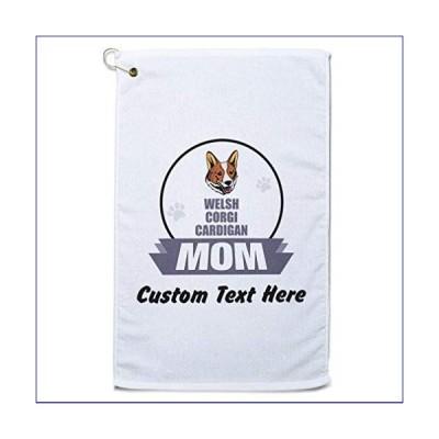 【新品】Style In Print Custom Golf Towel Personalized Mom Welsh Corgi Cardigan Dog Cotton Bag Accessories White Text Here(並行輸入品)