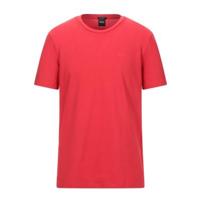 BOSS HUGO BOSS T シャツ レッド S コットン 100% T シャツ