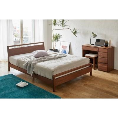 シングル ポケットコイル ウォルナット MARK/マーク 木製ベッド H81219