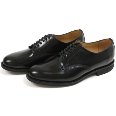 サンダース オフィサーシュー ブラック (Sanders #1384 Officer Shoe Black)