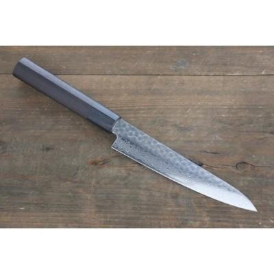 堺 孝行 AUS10 45層ダマスカス ペティーナイフ 150mm 紫檀柄 (栗型:右利き用です)