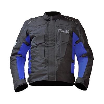 TRIZE バイクジャケット(ブルー) JC03R 防風 防水 ショートライダージャケット 通気 バイク用 パッド内蔵 ライナー着脱可 JC
