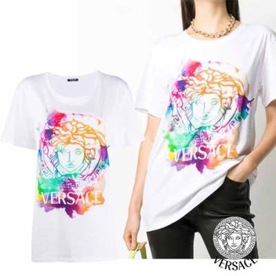 ヴェルサーチ VERSACE メデューサモチーフ オーバーサイズ Tシャツ ホワイト