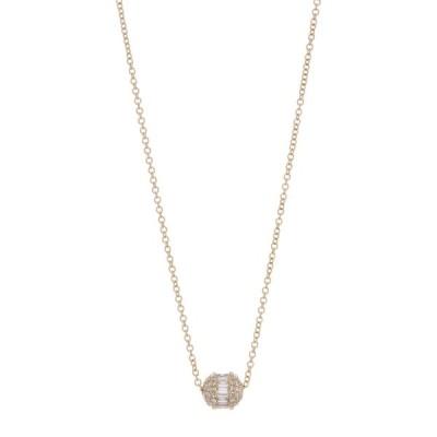 ロンハミ レディース ネックレス・チョーカー・ペンダントトップ アクセサリー 14K Gold Diamond Barrel Pendant Necklace - 0.48 ctw ROSE GOLD/DIAMOND