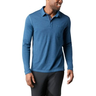 スマートウール SMARTWOOL メンズ ポロシャツ ベースレイヤー トップス Merino 250 Base Layer Long Sleeve Polo Neptune Blue Heather