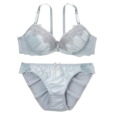 ニュアンスカラーリッチシャイン ブラジャー・ショーツセット(B75/M) (ブラジャー&ショーツセット)Bras & Panties