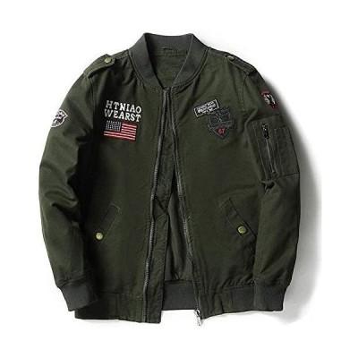 ma1 ジャンパー メンズ ミリタリージャケット 立ち襟 フライトジャケット MA-1 ブルゾン カーゴ エムエーワン スタジャン 刺繍ワッ