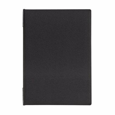 オープン工業 メニューファイル A4 デニム調 黒 MN-151-BK