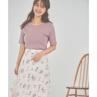 LAISSE PASSE / レッセパッセ フラワープリーツスカート