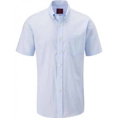 スコープス Skopes メンズ 半袖シャツ トップス Casual Short Sleeve Shirts Blue