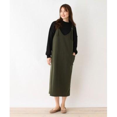 SHOO・LA・RUE/シューラルー Dリングハイゲージジャンパースカート カーキ(027) 02(M)