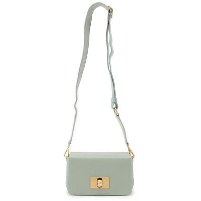 ICICLE(アイシクル) リアルレザー太ストラップスクエアミニショルダーバッグ