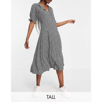 ワイ エー エス Y.A.S Tall レディース ワンピース ミドル丈 ワンピース・ドレス Y.A.S. Tall Frill Detail Midi Tea Dress In Floral フローラルマルチ