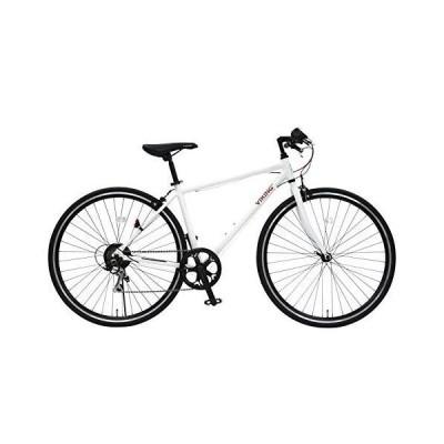 VIKING BIKE AL-CRB7006Rapid ホワイト 軽量アルミフレーム クロスバイク 700c 6段変速ギア搭載 前輪クイックレリーズ ス