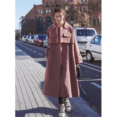 ≪大満足のレビュー多数✨≫韓国ファッション 2020年初秋 怠惰な風 中・長セクション トレンチコート 大人気 ファッション 雰囲気 ゆったりする カジュアル 気質